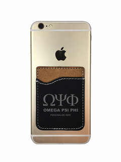 Omega Psi Phi Leatherette Phone Wallet