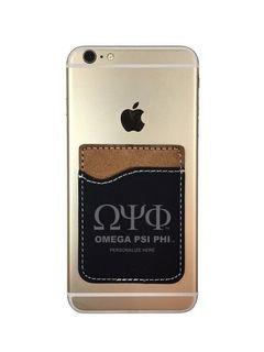 Omega Psi Phi Leatherette Phone Wallet