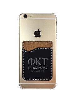 Phi Kappa Tau Leatherette Phone Wallet