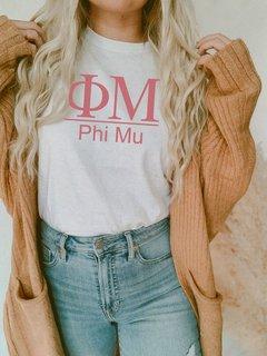 Phi Mu Comfort Colors Heavyweight T-Shirt