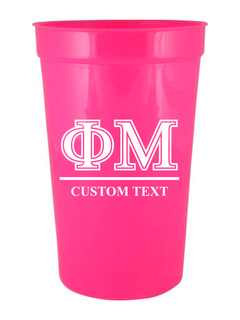 Phi Mu Custom Greek Symbolized Stadium Cup