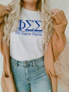 Phi Sigma Sigma Comfort Colors Heavyweight T-Shirt