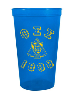 Phi Sigma Sigma Custom Greek Crest Est Stadium Cup