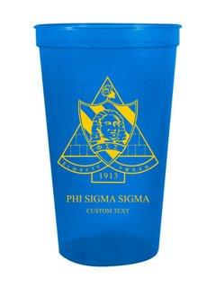 Phi Sigma Sigma Custom Greek Crest Letter Stadium Cup