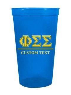 Phi Sigma Sigma Custom Greek Symbolized Stadium Cup
