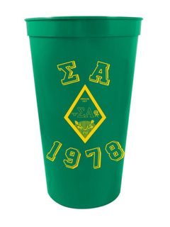Sigma Alpha Custom Greek Crest Est Stadium Cup