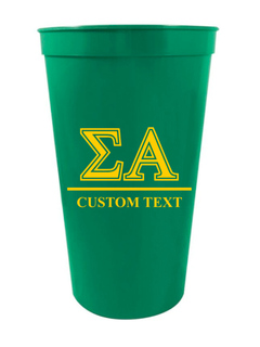 Sigma Alpha Custom Greek Symbolized Stadium Cup