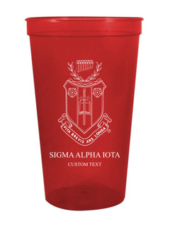 Sigma Alpha Iota Custom Greek Crest Letter Stadium Cup