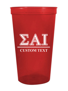 Sigma Alpha Iota Custom Greek Symbolized Stadium Cup