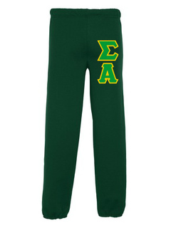 Sigma Alpha Lettered Sweatpants