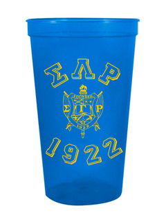 Sigma Gamma Rho Custom Greek Crest Est Stadium Cup