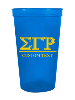 Sigma Gamma Rho Custom Greek Symbolized Stadium Cup