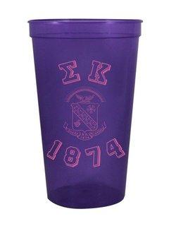 Sigma Kappa Custom Greek Crest Est Stadium Cup