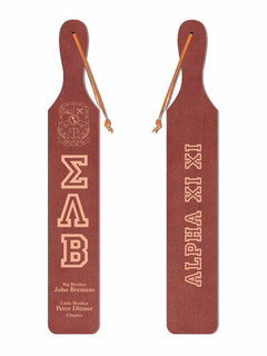 Sigma Lambda Beta Old School Wood Greek Paddle