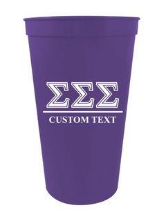 Sigma Sigma Sigma Custom Greek Symbolized Stadium Cup