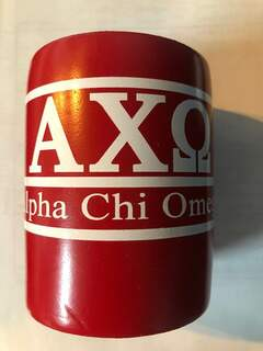 Super Savings - Alpha Chi Omega Can Cooler - RED 1 of 3