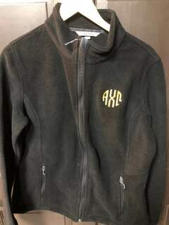 Super Savings - Alpha Chi Omega Fleece Jacket - BLACK