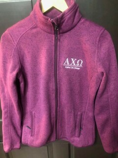 Super Savings - Alpha Chi Omega Full Zip Jacket - PURPLE