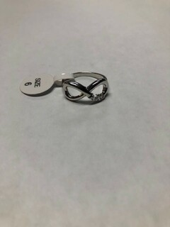 Super Savings - Alpha Chi Omega Infinity Ring - SILVER