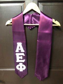 Super Savings - Alpha Epsilon Phi Graduation Sash Stole - PURPLE