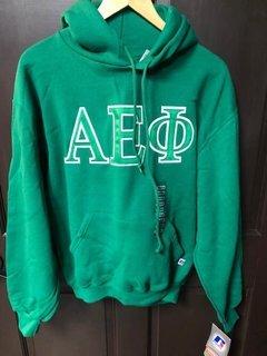 Super Savings - Alpha Epsilon Phi Hooded Sweatshirt - GREEN 1 of 3