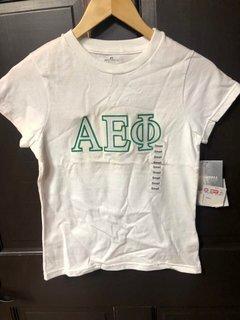 Super Savings - Alpha Epsilon Phi Slim Fit Shirt - WHITE