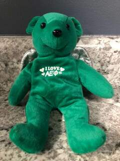Super Savings - Alpha Epsilon Phi Teddy Bear - GREEN