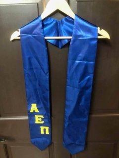 Super Savings - Alpha Epsilon Pi Stole with Slanted Letters - ROYAL BLUE