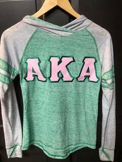 Super Savings- Alpha Kappa Alpha Advocate Lettered Hoodie - GREEN