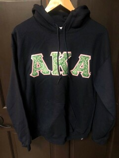 Super Savings - Alpha Kappa Alpha Custom Twill Hooded Sweatshirt - NAVY