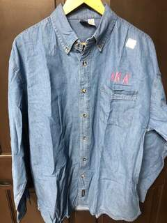 Super Savings - Alpha Kappa Alpha Denim Shirt - JEAN