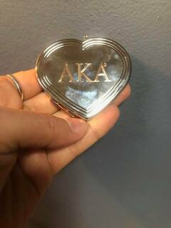 Super Savings - Alpha Kappa Alpha Heart Mirror - MIRROR