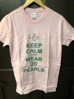 Super Savings - Alpha Kappa Alpha Keep Calm & Wear 20 Pearls' T-Shirt - PINK