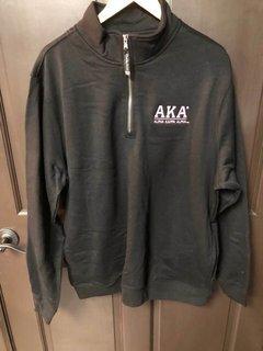 Super Savings - Alpha Kappa Alpha Quarter-Zip Sweatshirt - BLACK