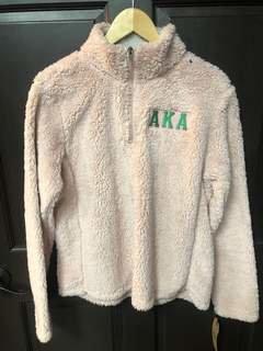Super Savings - Alpha Kappa Alpha Sherpa Pullover - PINK