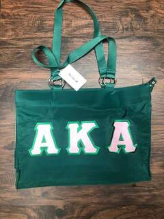 Super Savings- Alpha Kappa Alpha Tote Bag - GREEN