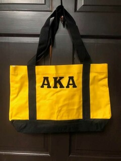 Super Savings - Alpha Kappa Alpha Tote Bag - YELLOW