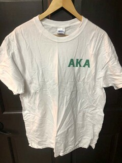 Super Savings - Alpha Kappa Alpha World Famous Crest Shield Tee - WHITE
