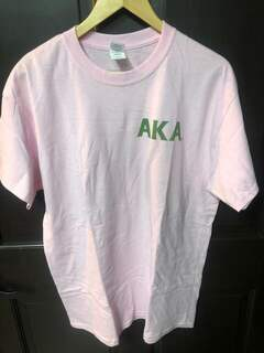 Super Savings - Alpha Kappa Alpha World Famous Crest - Shield Tee - PINK
