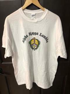 Super Savings - Alpha Kappa Lambda Vintage Crest - Shield T-Shirt - WHITE
