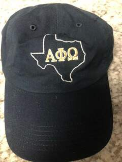 Super Savings - Alpha Phi Omega State Hat - BLUE