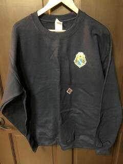 Super Savings - Alpha Phi Omega World Famous Crest Shield Crewneck Sweatshirt - NAVY