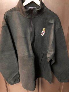 Super Savings - Beta Theta Pi Crest Fleece Quarter Zip Pullover - BLACK