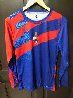 Super Savings - Beta Theta Pi Long Sleeve Dry-Fit Top - BLUE AND RED