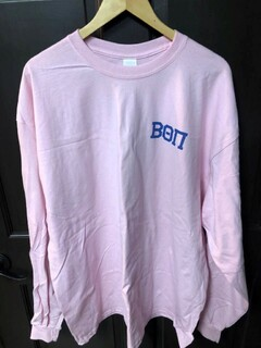Super Savings - Beta Theta Pi World Famous Crest - Shield Long Sleeve T-Shirt - PINK