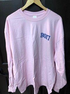 Super Savings - Beta Theta Pi World Famous Crest - Shield Long Sleeve T-Shirt - PINK