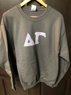 Super Savings - Delta Gamma Custom Twill Crewneck - GREY