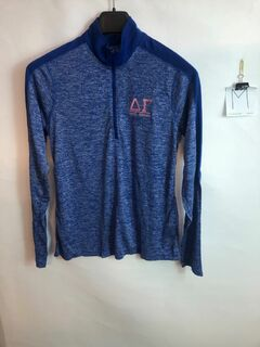 Super Savings - Delta Gamma Electrify 1/2 Zip Pullover - BLUE
