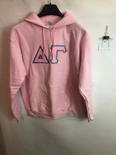 Super Savings - Delta Gamma Lettered Hooded Sweatshirt - PINK