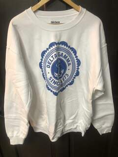 Super Savings - Delta Gamma Seal Crewneck Sweatshirt - WHITE 1 of 2